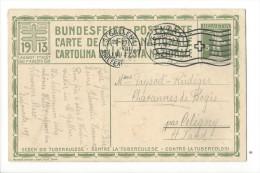 N20- Fête Nationale Bundesfeier Carte N°6  1er Jour 01.08.1913 St.Gall Pour Céligny - Entiers Postaux
