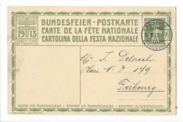 N22- Fête Nationale Bundesfeier Carte N°6  23.08.1913 Fribourg - Entiers Postaux