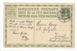 N23- Fête Nationale Bundesfeier Carte N°6  08.08.1913 Zug - Entiers Postaux
