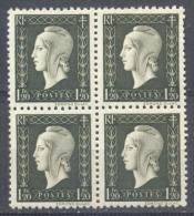 France YT N°690 Marianne De Dulac (Bloc De 4) Neuf ** - 1944-45 Maríanne De Dulac