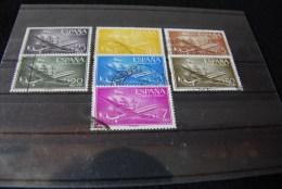 B052 - ESPANA - SPANIEN - SPAIN - Flugzeuge Luftpost Correo Aereo - 7 Verschiedene Briefmarken- Different Stamps - Verzamelingen