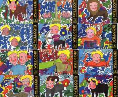 CARTES  PREPAYEES   ISRAEL  WILLCOM  Signes Du Zodiaque  Signs Of Zodiac   (lot De 12)  ******6 - Israel
