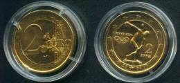 Griechenland 2 € 2004 Vergoldet Olympiade Athen - Grecia