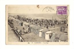 Cp, 14, Cabourg, La Plage, Voyagée 1935 - Cabourg