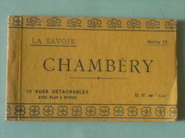 CHAMBERY - Carnet Complet De 12 Cpa Détachables Avec Plan Et Notice - Chambery