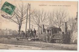 CPA 90 BELFORT Le Chemin De Fer Stratégique Soldats Militaire Locomotive 1910 - Belfort - Ville