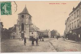CPA 27 GAILLON Eglise Commerce Charcuterie 1912 - Unclassified