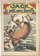 """Fascicule, """"Jack"""", Le Petit Sans Famille - Le Trésor Des Incas - Roger Salardenne - N° 23 - Livres, BD, Revues"""