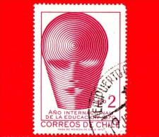 CILE - Usato - 1970 - Anno Internazionale Dell''istruzione - Emblema - 2 - Chile