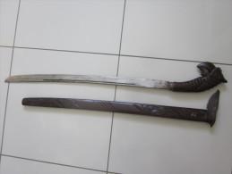 SABRE  INDONESIEN BOIS - Blankwaffen