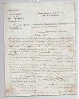 Lettre Inspecteur De L'Administration De L'Enregistrement Et Du Domaine National De Fontainebleau - 1801-1848: Précurseurs XIX