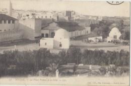 Cpa  Tunisie Sousse La Place Pichon Et La Ville - Túnez