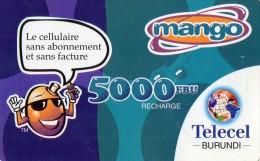 RECHARGE GSM BURUNDI TELECEL 5000 FBU  Mango   ******6 - Burundi