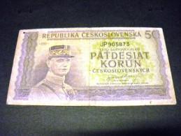 TCHECOSLOVAQUIE 50 Korun 1945, Pick N° 62, CZECHOSLOVAKIA CESKOSLOVENSKA - Tchécoslovaquie
