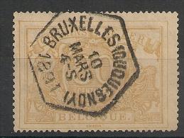 BRUXELLES Dusquesnay Sur Timbre Chemins De Fer, SPOORWEGEN. 1891