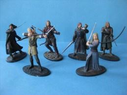 Figurines En Plomb Le Seigneur Des Anneaux Aragorn, Boromir,Eomer, Eowin,Faramir   54 Mm & - Dungeons & Dragons