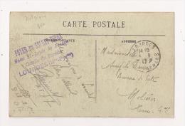 FOYER DU SOLDAT BELGE HOTEL SAINT LOUIS DE FRANCE LOURDES 1917 - Guerre 14-18
