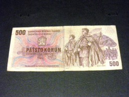 TCHECOSLOVAQUIE 500 Korun 1973, Pick N° 93, CZECHOSLOVAKIA CESKOSLOVENSKA - Tchécoslovaquie