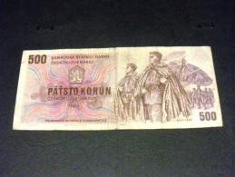 TCHECOSLOVAQUIE 500 Korun 1973, Pick N° 93, CZECHOSLOVAKIA CESKOSLOVENSKA - Tschechoslowakei