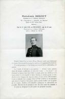 Guerre 14-18 faire-part du d�c�s du Lt Pierre-Louis Bricout 25�me RI tomb� au champ d�honneur le 22 ao�t 1914