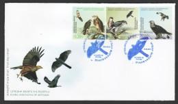 Armenia Karabakh 2015, Flora And Fauna Of Artsakh, Preservation Of  The Wildlife, Birds Of Prey, Eagls Sheets - FDC - W.W.F.