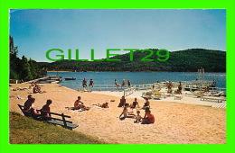 STE AGATHE DES MONTS, QUÉBEC - SANDY BEACH AT THE CHALET ON LAC DES SABLES - FRANK SCOFIELD - - Quebec
