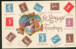 Langage Des Timbres Avec Semeuse Et Pasteur - Fancy Cards