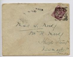 GB 1894 Cover Northampton Squared Circle Postmark (D263) - 1840-1901 (Victoria)