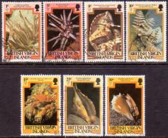 British Virgin Islands 1979-82 SG #418//28 Part Set 7 Stamps Of 17 Different Imprints VF Used Marine LIfe - British Virgin Islands