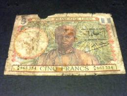 AFRIQUE FRANCAISE LIBRE 5 Francs 1941, Pick 40,FRENCH EQUATORIAL  AFRICA FRANCE COLONIES - Autres