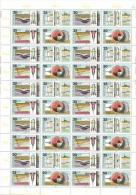 DDR 1980 Mi. 2557-2560 Unfolded Complete Sheet 10x4 MNH, Geophysics, Gravimetry, Water Exploration, Seismics, Seismology