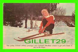 SPORTS D'HIVER - LE SKI - SKYCRUISERS LINK -  PUBLICITÉ, COLONIAL AIRLINES ADVERTISING - HARRY H. BAUMANN - - Sports D'hiver