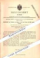 Original Patent - Richard Emde In Garschagen B. Lüttringhausen / Remscheid , 1882 , Bohrer Und Brustleier , Bohrmaschine - Historische Dokumente