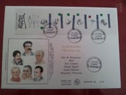 FDC France GF 34 N° 1756a - 24 04 1993 Carnet Personnage, Les écrivains - FDC