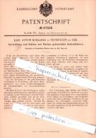 Original Patent - K. A. Koellner In Neumühlen Bei Kiel , 1892 , Richten Gebrauchter Schreibfedern !!! - Federn