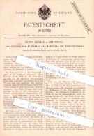Original Patent - Franz Reyher In Delitzsch , 1891 , Einfräsen Von Schlitzen Für Schließlöcher !!! - Delitzsch