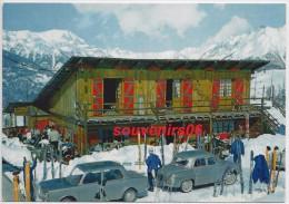 Le Super Sauze  - (cpsm/pm)  Hôtel Le Trappeur  (gros Plan Voiture Simca Et Autre) Circulée - Other Municipalities