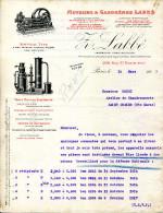 MOTEURS & GAZOGENES LABBE .MOTEURS A GAZ PAUVRE,PETROLE,ALCOOL. - France