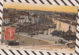 5AH915 LE BASSIN DU COMMERCE ET LE QUAI DES HOLLANDAIS 2 SCANS - Dunkerque