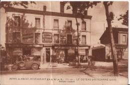 CPA  LE  COTEAU HOTEL DAVAL  écrite Note D'hotel  état - Otros Municipios