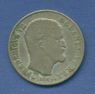 Dänemark 16 Skilling 1856 VS Frederik VII. KM 765 (m1064) - Danemark