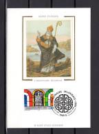"""Carte Maximum En Soie De 1996 N° YT 2993 """" SAINT PATRICK / L'IMAGINAIRE IRLANDAIS """". En Parfait état. CM - 1990-99"""