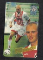 ITALY FOOTBALL  ATW  PHONECARD / 1997-8  /  KLAS INGESSON  ( PANINI ) RARE - Non Classés