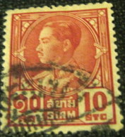 Siam 1928 King Prajadhipok 10s - Used - Siam