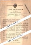 Original Patent - Gustav Voigt In Ferlach , Kärnten , 1881 , Verschluss An Gefäßen Zur Drahtführung !!! - Ferlach