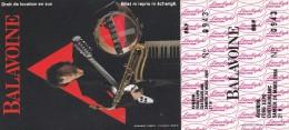 TICKET DANIEL BALAVOINE 1984 AVIGNON FRANCE - Concerttickets