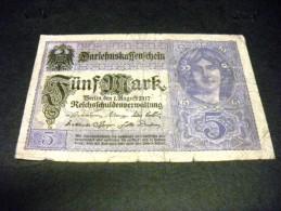 ALLEMAGNE 5 Mark 01/08/1917,1924, Pick 56 B , GERMANY - 5 Mark