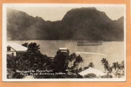 Pago Pago American Samoa 1936 Real Photo Postcard Mailed - Samoa Americana