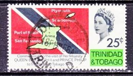 Trinidad & Tobago  121  (o)  FLAG  MAP  ROYAL  VISIT - Trinidad & Tobago (1962-...)
