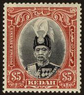 Kedah Scott #54, 1937, Stanley Gibbons No., Hinged - Kedah